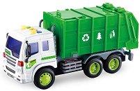 """Камион за боклук - Детска играчка със светлинни и зукови ефекти от серията """"City Service"""" - играчка"""