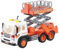 """Камион с вишка - Детска играчка със светлинни и зукови ефекти от серията """"City Service"""" -"""
