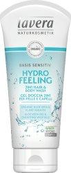"Lavera Basis Sensitiv Hydro Feeling Hair and Body Wash - Овлажняващ душ гел за коса и тяло от серията ""Basis Sensitiv"" - шампоан"