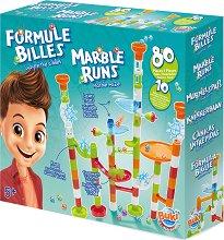 """Писта за стъклени топчета - Комплект с 10 топчета от серията """"Construction"""" - играчка"""