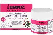 Dr. Konopka's Age-Defying Active Face Cream - Натурален крем против стареене за зряла и суха кожа - шампоан