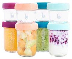 Контейнери за съхранение на храна - Комплект от 8 броя с капачки и вместимост от 120 ml и 240 ml - продукт