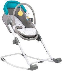 Compact Relax 4 в 1 - Бебешки кош, шезлонг, люлка и столче за хранене -