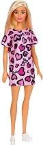 """Барби с рокля на сърца - Кукла от серията """"Barbie"""" - играчка"""