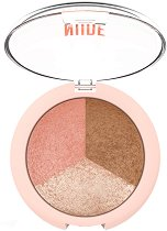 Golden Rose Nude Look Baked Trio Face Powder -
