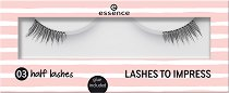 Essence Lashes To Impress Half Washes - Изкуствени мигли в комплект с лепило - пудра