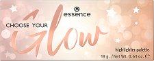 Essence Choose Your Glow Highlighter Palette - Палитра хайлайтъри - лак