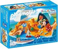 """Семейство на плажа - Детски конструктор от серията """"Семейно забавление"""" -"""