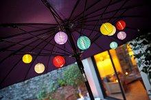 Разноцветен гирлянд със соларни лампи - Samba