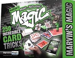 250 главозамайващи трикове - Комплект за фокуси с карти -