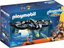 """Роботитрон с дрон - Детски конструктор от серията """"Playmobil - Филмът"""" - играчка"""