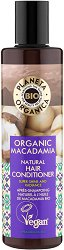"Planeta Organica Natural Hair Conditioner Organic Macadamia - Натурален балсам за блясък с био масло от макадамия от серията ""Macadamia"" -"