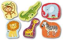 Диви животни - Комплект от 6 пъзела - пъзел