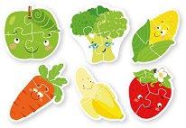 Плодове и зеленчуци - Комплект от 6 пъзела -