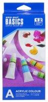 Акрилни бои - Sinoart - Комплект от 12 цвята x 12 ml