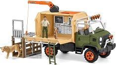 """Спасителен камион за животни - Комплект с фигури и аксесоари от серията """"Джунгла""""  -"""