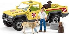 Ветеринар с автомобил - играчка
