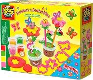 Цветя и пеперуди - Творчески комплект с пластилин -