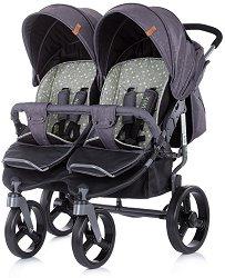 Бебешка количка за близнаци - Twix 2020 - С 4 колела -