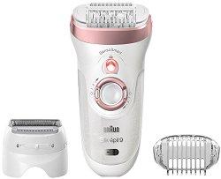 Braun Silk-epil 9 SensoSmart 9-720 Wet & Dry - Епилатор за тяло с бръснеща глава -