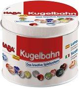 Стъклени топчета - Комплект от 36 стъклени и 2 метални топчета в кутия - играчка