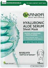 Garnier Hyaluronic Aloe Tissue Mask - Хидратираща хартиена маска за лице - маска