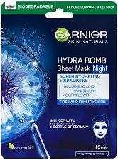 Garnier Hydra Bomb Tissue Mask Night - Нощна хартиена маска за лице - маска