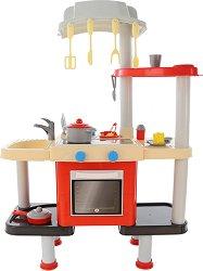 Детска кухня с мивка и печка - Детски комплект за игра с аксесоари -