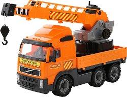 Камион с кран - Volvo - играчка