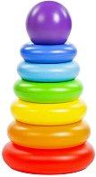 Конус с цветни рингове - Пирамида -