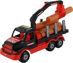 Камион с дървени трупи - Мамоет - играчка
