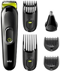Braun Multi Grooming Kit MGK3221 6 In 1 - Тример за лице и коса - самобръсначка