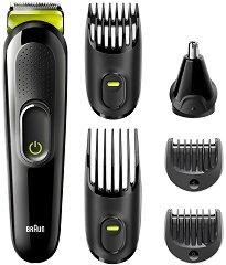 Braun Multi Grooming Kit MGK3221 6 In 1 - Тример за лице и коса -