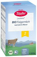 Преходно мляко - Lactana Bio 2 - Опаковка от 600 g за бебета от 6 до 10 месеца -