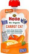 Holle - Био забавна плодово-зеленчукова закуска с морков, манго, банан и круша -