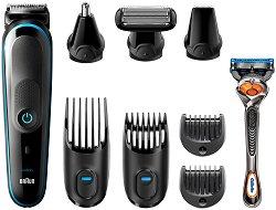 Braun Multi Grooming Kit MGK5280 9 in 1 - Тример за лице, коса и тяло в комплект със самобръсначка -