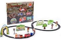 Товарен влак - Classic Train - Детски комплект за игра със светлинни функции -