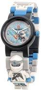 """Детски ръчен часовник - LEGO Ninjago: Zane - Комплект с фигурка от серията """"LEGO: Ninjago"""