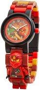 """Детски ръчен часовник - LEGO Ninjago: Kai - Комплект с фигурка от серията """"LEGO: Ninjago"""