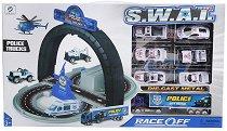 Писта - S.W.A.T - Комплект за игра с 6 колички и 1 камион - играчка