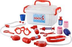 Лекарски комплект в куфарче - Детски комплект за игра - играчка