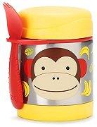 """Термоконтейнер за храна - Маймунката Маршъл 325 ml - За бебета над 12 месеца от серията """"Zoo"""" -"""