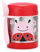 """Термоконтейнер за храна - Калинката Ливия 325 ml - За бебета над 12 месеца от серията """"Zoo"""" -"""