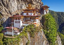 Гледка към Паро Такцанг, Бутан -