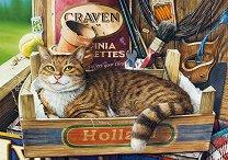 Коте в щайга - Джефри Тристрам (Geoffrey Tristram) - пъзел