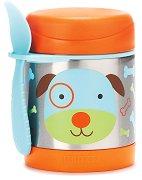 """Термоконтейнер за храна - Кученцето Дарби 325 ml - За бебета над 12 месеца от серията """"Zoo"""" -"""