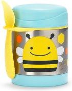 """Термоконтейнер за храна - Пчеличката Бруклин 325 ml - За бебета над 12 месеца от серията """"Zoo"""" -"""