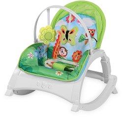Бебешки шезлонг - Alex: Jungle Green -