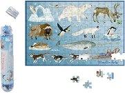 Мини пъзел - Арктика - В комплект с плакат -