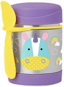 """Термоконтейнер за храна - Еднорогът Юрика 325 ml - За бебета над 12 месеца от серията """"Zoo"""" -"""